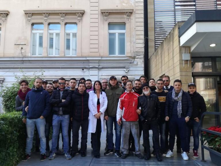 Curva nord inferiore all'Ospedale dei Bambini di Palermo: questo è il natale che ci piace
