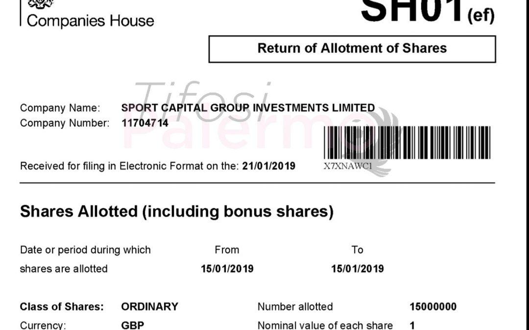 L'aumento di capitale nel registro delle imprese inglesi, ecco il documento