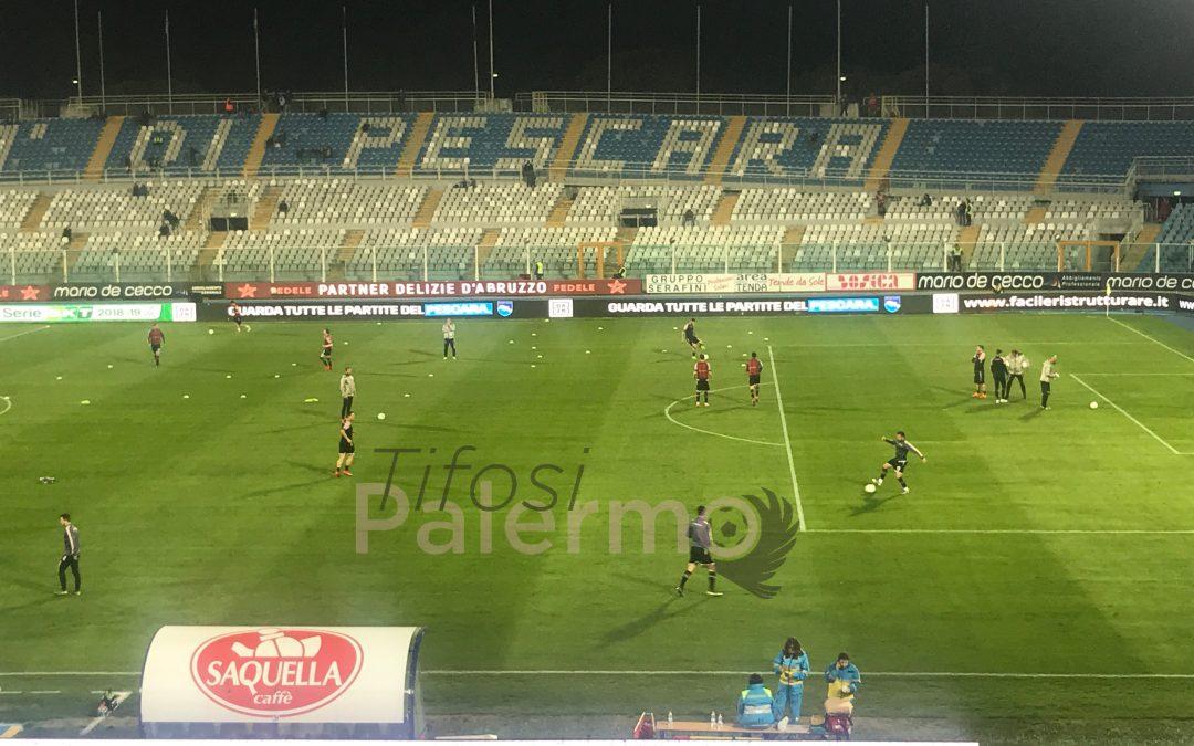 Il Palermo si ferma a Pescara, rosanero battuti per 3 a 2