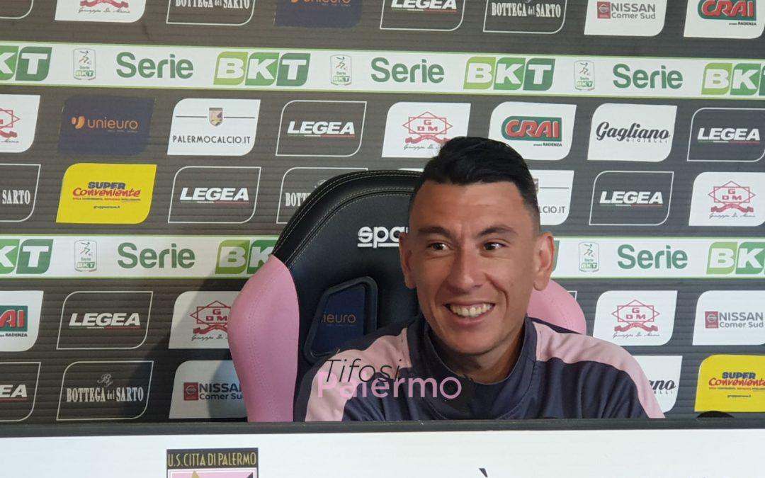 """Falletti: """"Spero di vedere un Barbera più pieno. Voglio restare al Palermo in futuro""""."""