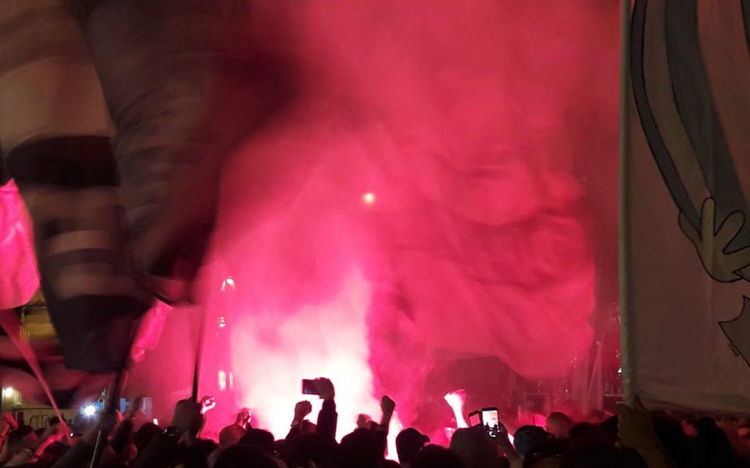 In partenza per Roma i primi tifosi. Attesi quasi 1000 sostenitori rosanero