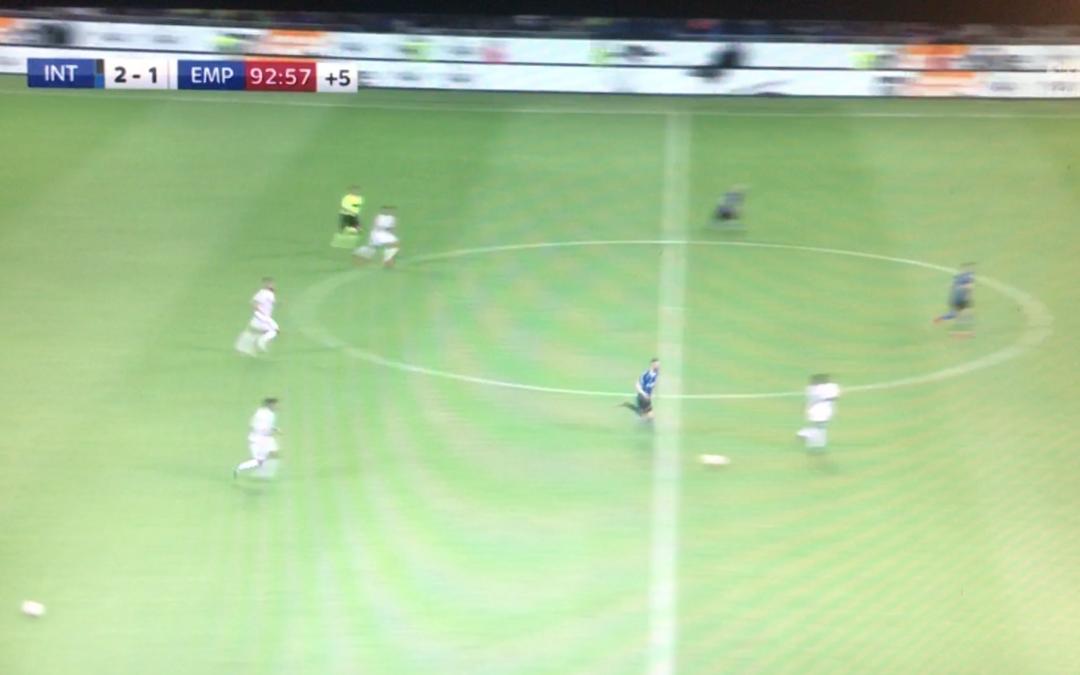 Inter scuola Frosinone: pallone in campo con l'Empoli per provare a fermare l'azione [VIDEO]