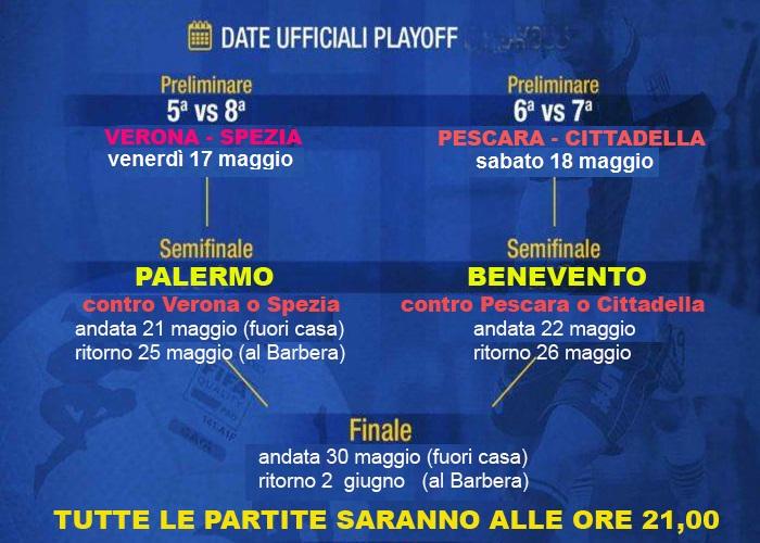 Calendario Partite Pescara.I Play Off E Il Calendario Del Palermo Se Non Succede