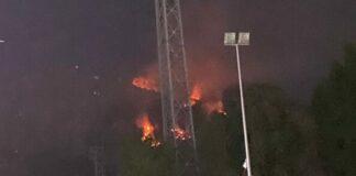 incendio a Monte Pellegrino
